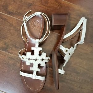 Tory Burch sandals 9M straps with 2inch heel